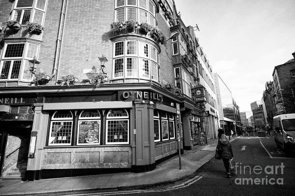 Wall Art - Photograph - O'neills Pub On The Corner Of Church Lane And Suffolk Street Dublin Republic Of Ireland Europe by Joe Fox