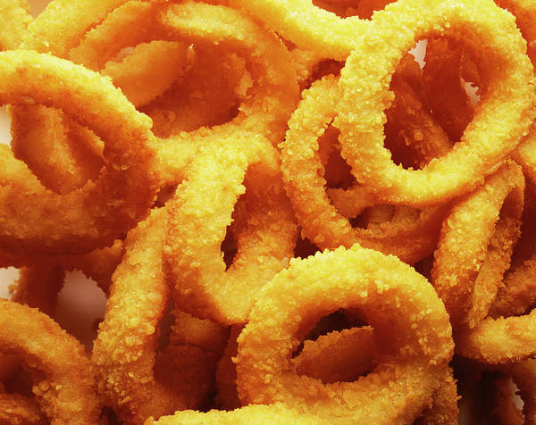 Texture Photograph - Onion Rings by Gerald Zanetti