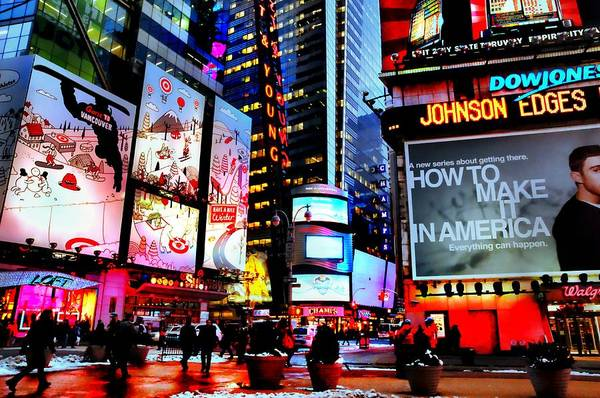 Wall Art - Photograph - Only In Times Square by Diana Angstadt