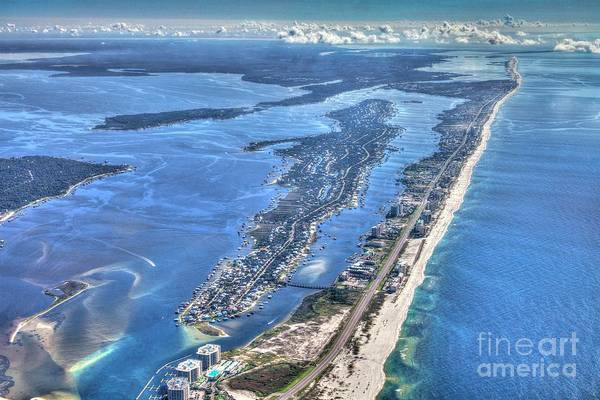 Photograph - Ono Island-5112-tm by Gulf Coast Aerials -