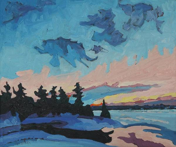 Painting - Ontario Snowsquall Sunset by Phil Chadwick