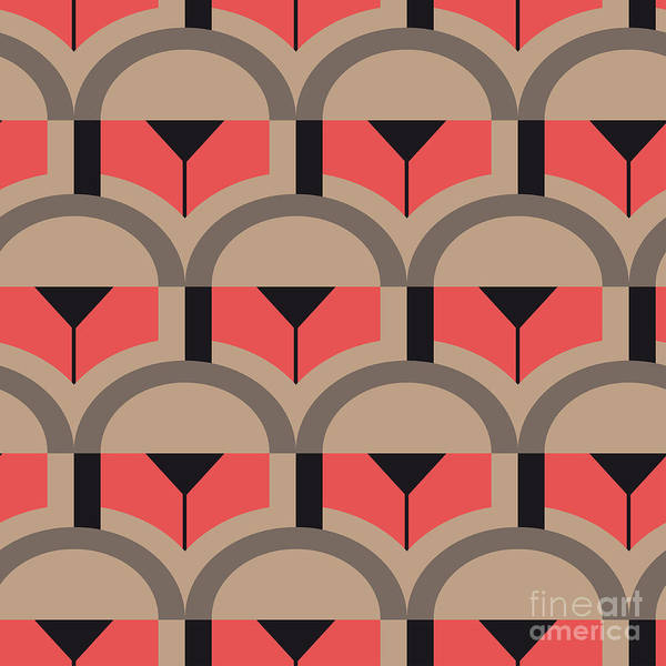 Repetition Wall Art - Digital Art - Op Art Vector Seamless Pattern by Oksanase