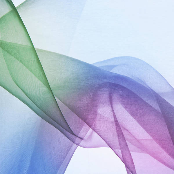 Fiber Photograph - Opaque Blue, Pink And Green Abstract by Kertlis