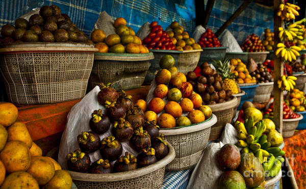 Wall Art - Photograph - Open Air Fruit Market In The Village by Unique Vision