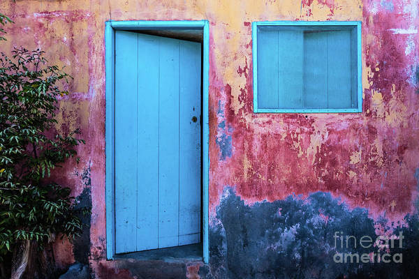 Photograph - Open Blue Door by Lyl Dil Creations