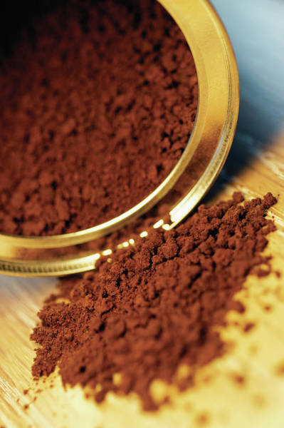 Ground Photograph - Open Can Of Instant Coffee by Medioimages/photodisc