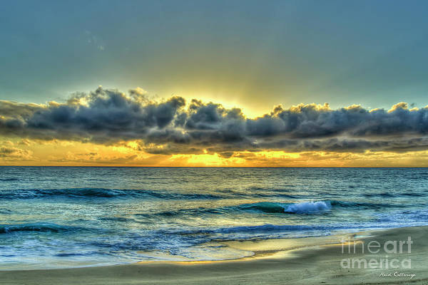 Photograph - Open Ocean Oahu Sunset Hawaii Seascape Art by Reid Callaway