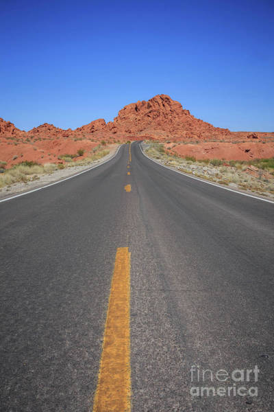 Wall Art - Photograph - Open Road Valley Of Fire by Edward Fielding