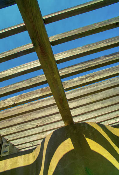 Photograph - Open Sky Gazebo Roof by Gary Slawsky