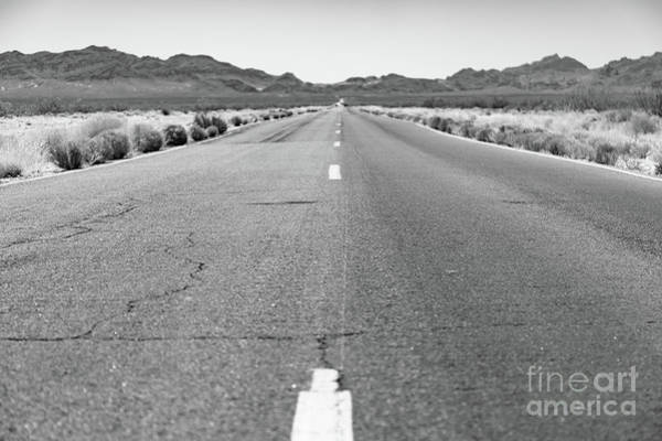Wall Art - Photograph - Open Stretch Of Road Through The Desert by Edward Fielding