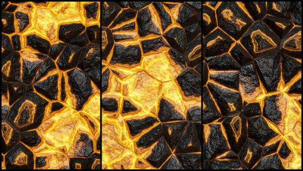 Digital Art - Open Wall Abstract Triptych by Don Northup