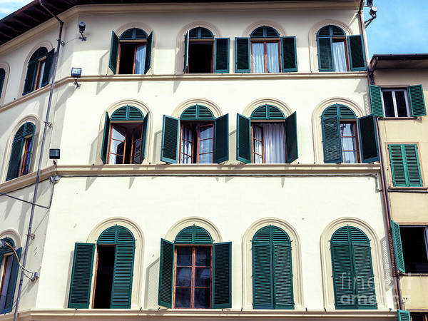 Photograph - Open Windows In Florence by John Rizzuto