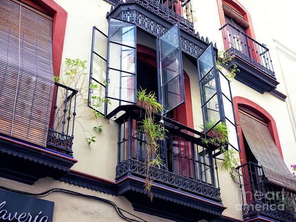Photograph - Open Windows In Seville by John Rizzuto