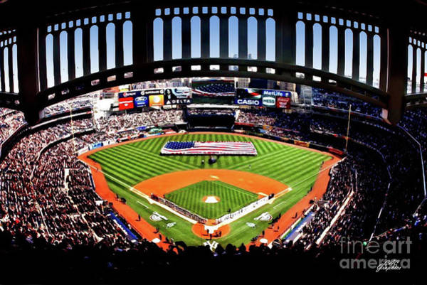 Photograph - Opening Day Yankee Stadium by CAC Graphics