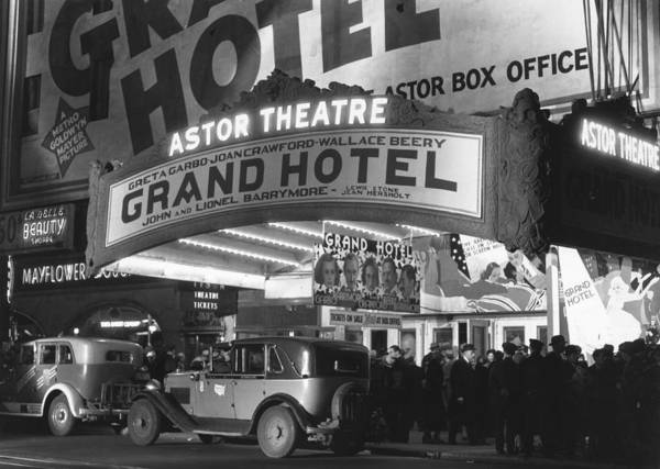 Photograph - Opening Night Grand Hotel Times Square by Bettmann
