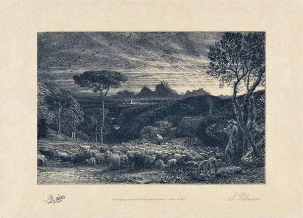 Wall Art - Painting - Opening The Fold - Digital Remastered Edition by Samuel Palmer