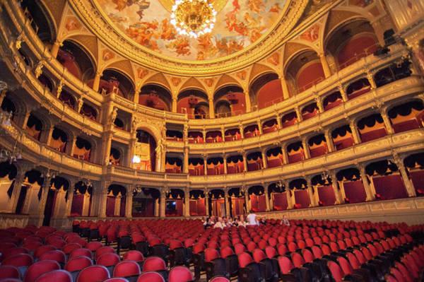 Auditorium Photograph - Opera House, Auditorium, Budapest by Danita Delimont