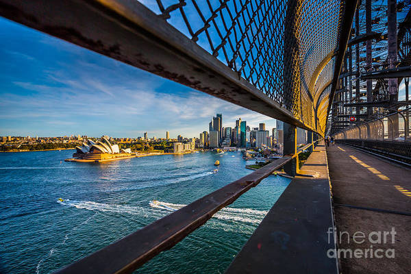 Iconic Wall Art - Photograph - Opera House On Walking Way On The by Structuresxx
