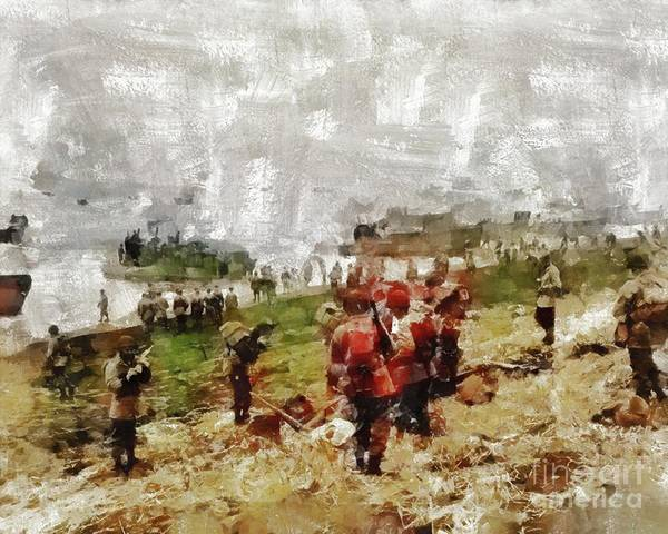 Wall Art - Painting - Operation Cottage, Wwii by Mary Bassett