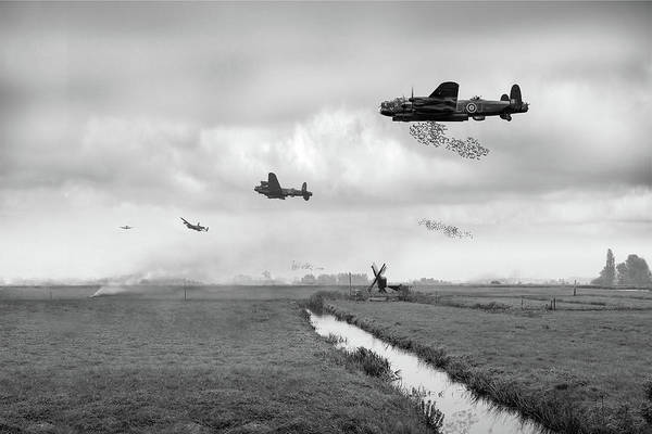 Photograph - Operation Manna Bw Version by Gary Eason