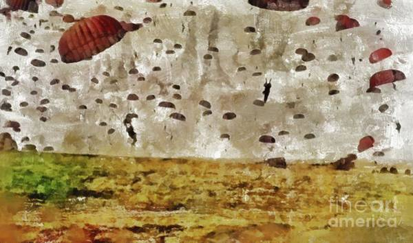 Wall Art - Painting - Operation Market Garden, Wwii by Mary Bassett