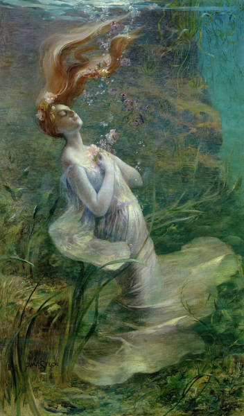 Ophelia Painting - Ophelia, 1895 by Paul Albert Steck