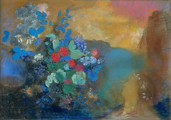 Ophelia Painting - Ophelia Among The Flowers, 1905-08 by Odilon Redon