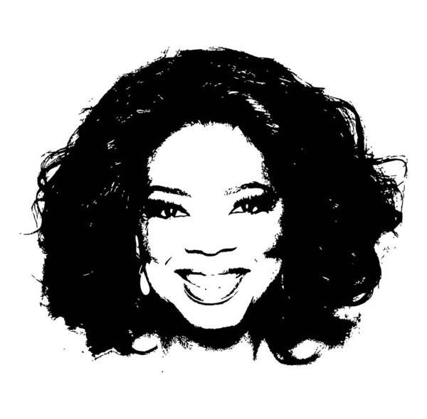 Oprah Wall Art - Digital Art - Oprah Minimalistic Pop Art by Filip Hellman