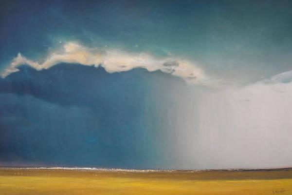 Wall Art - Painting - Opt.02.19  'storm' by Derek Kaplan