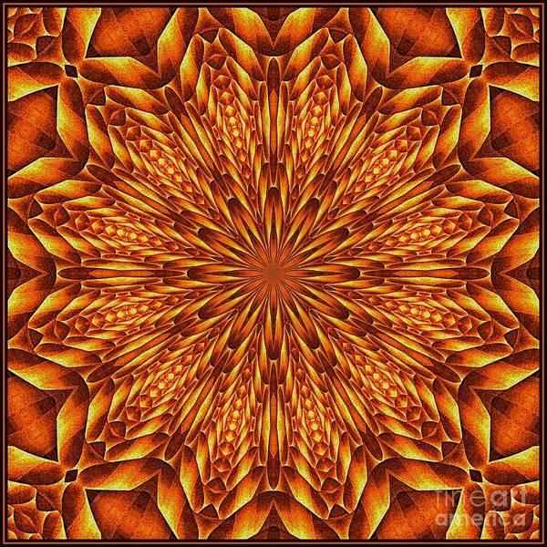 Digital Art - Oragami Vortex K12-5 Tile by Doug Morgan