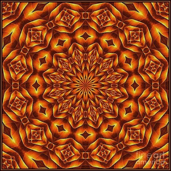 Digital Art - Oragami Vortex K12-6 Tile by Doug Morgan