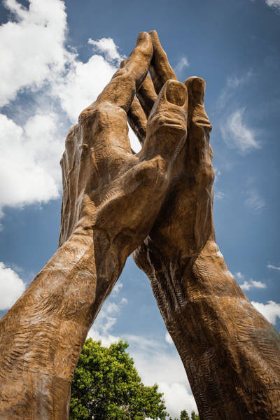 Photograph - Oral Roberts University Praying Hands - Tulsa Oklahoma by Gregory Ballos