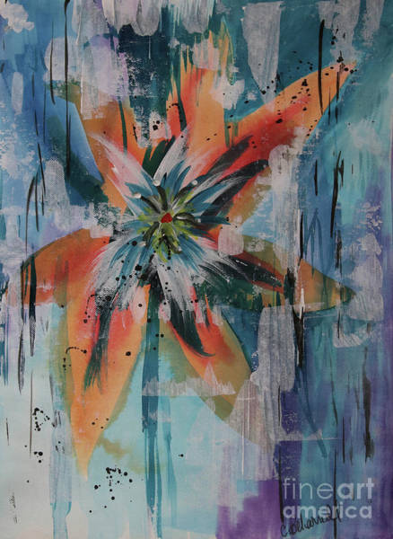 Painting - Orange Abstract Lily  by Cathy Beharriell
