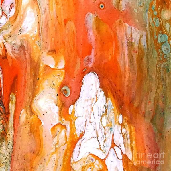 Digital Art - Orange Acrylic Swipe Poue Painting by Sheila Wenzel