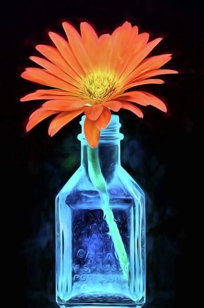 Digital Art - Orange And Blue Still Life by JC Findley
