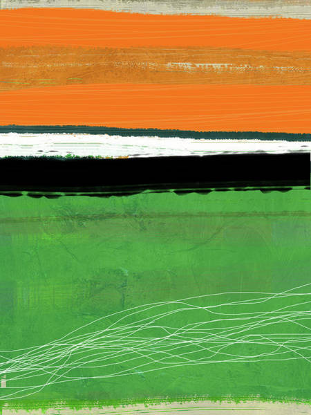 Wall Art - Painting - Orange And Green Abstract I by Naxart Studio