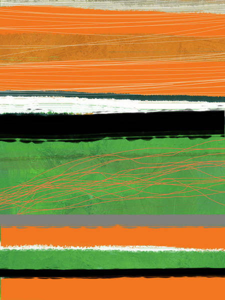 Wall Art - Painting - Orange And Green Abstract II by Naxart Studio