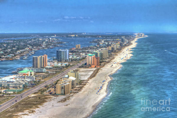 Photograph - Orange Beach East by Gulf Coast Aerials -