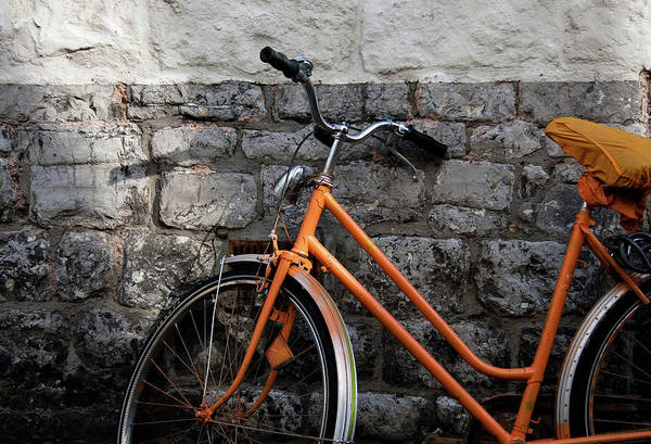Surroundings Photograph - Orange Bike by If I Were Going Photography - Leonie Poot