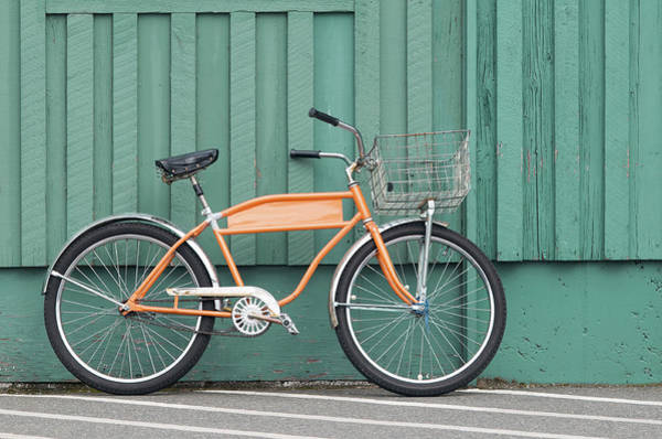 Orange Bike Art Print by Tbd