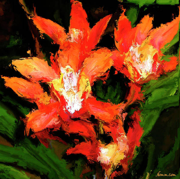 Digital Art - Orange Blossoms by Rein Nomm