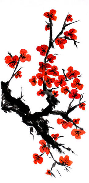 Painting - Orange Blossoms by ZeichenbloQ