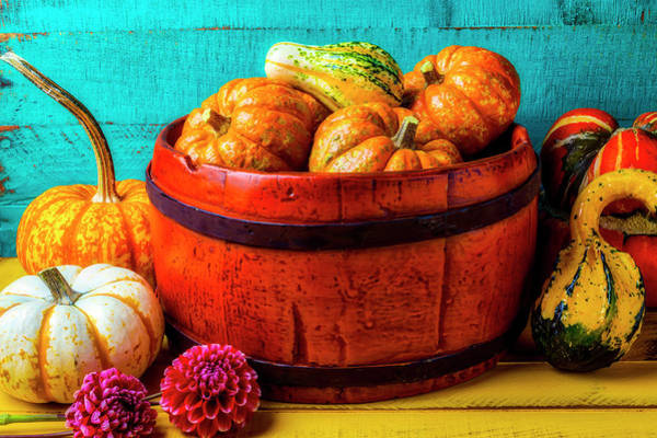 Wall Art - Photograph - Orange Bucket Full Of Pumpkins by Garry Gay