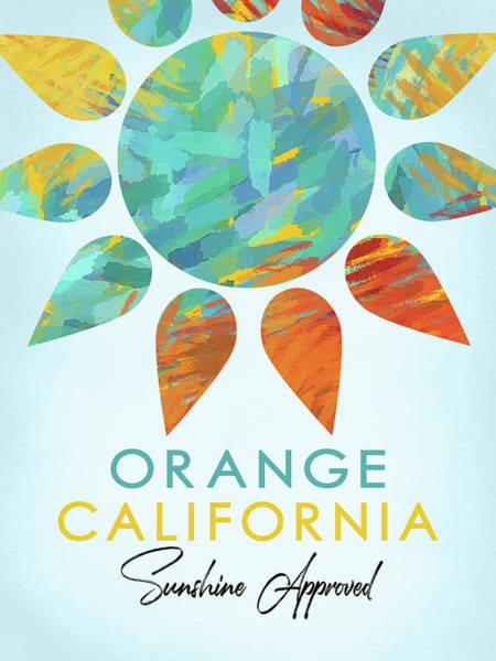 Wall Art - Digital Art - Orange California Sunshine by Flo Karp