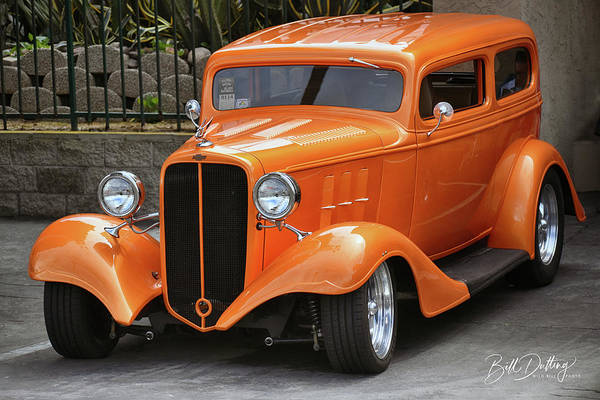 Photograph - Orange Chevy Rod by Bill Dutting
