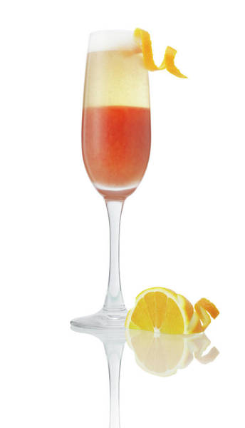 Cocktail Photograph - Orange Cocktail Champagne by Jeremy Hudson