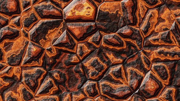 Digital Art - Orange Colored Stone by Don Northup
