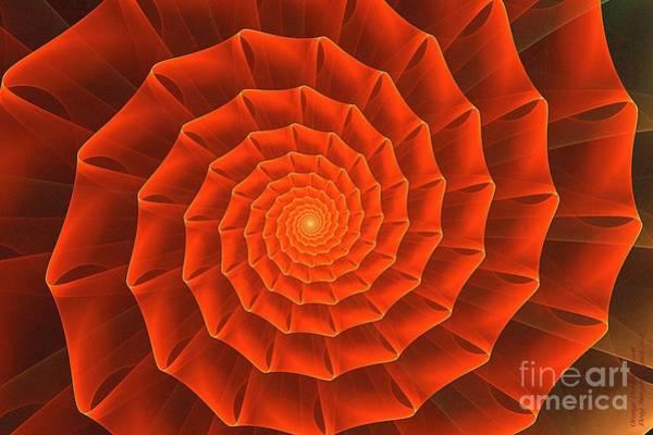 Digital Art - Orange Dream Blosson by Doug Morgan