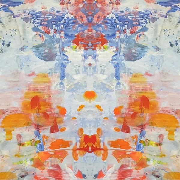 Wall Art - Digital Art - Orange Dream Digi I by Donna Ceraulo