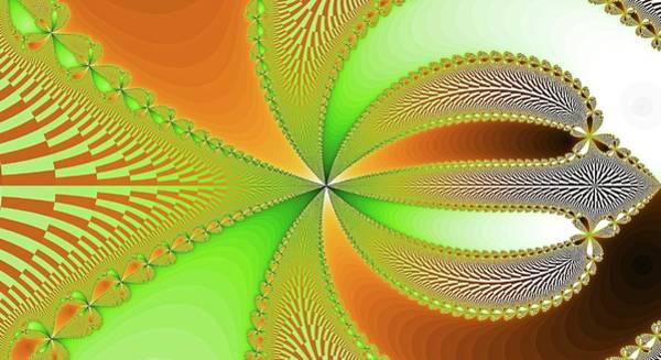 Digital Art - Orange Floral Fantasy Fractal by Don Northup
